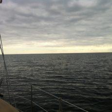 Graue Überfahrt nach Bagenkop